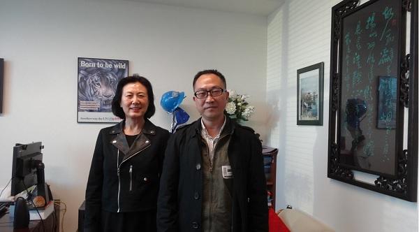 国际中文记者联合会秘书长勾芍人博士访问联合国新闻部